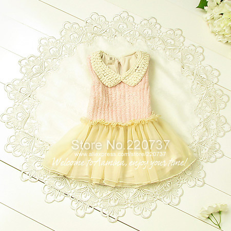 Wholesale 5pcs/lot(#9015),girls toddler Sweater vest tutu dress Children Korean style,2013autumn fall new for girl kid