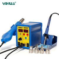 YIHUA 899D+ SMD Soldering Station Hot Air Rework Station Temperature Controlled Soldering Station