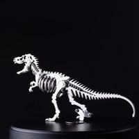 Finger Rock 3D Dinosaur Metal Puzzles DIY Tyrannosaurus Rex Stegosaurus Skeleton Model Toys Intelligence Jigsaws Toys