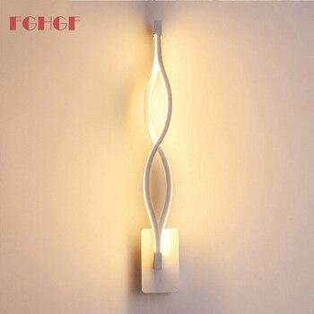 16 Вт простые светодиодные настенные лампы белого и черного цвета Настенные светильники для дома, Внутренний Металл, акрил, декоративные нас...