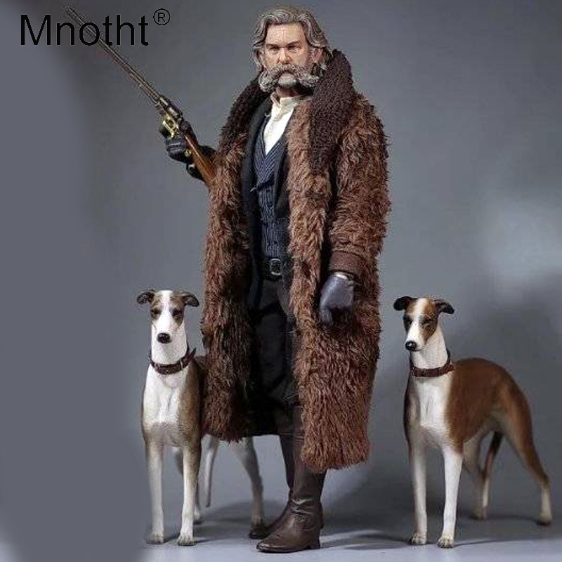 Mnotht 1/6 Greyhound Carve Model With Collar+Chain Simulation Animal Dog Sculpture Model For 12in Action Figures Soldier Toy