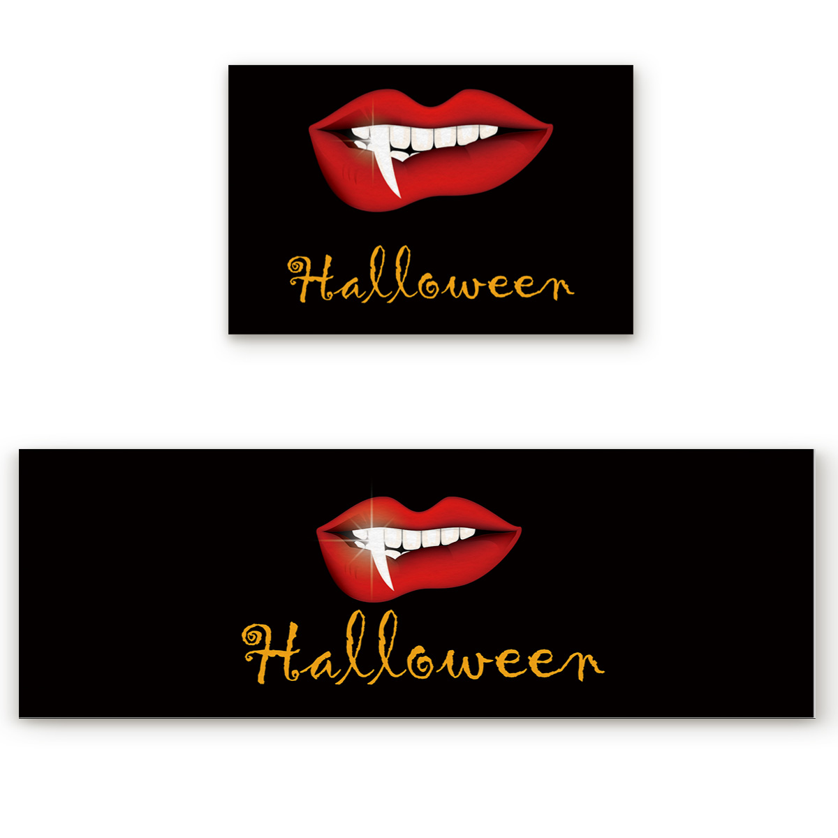 2 pièces cuisine tapis et tapis ensemble moderne Halloween rouge lèvres maison Deocr antidérapant zone coureur paillassons tapis - 3