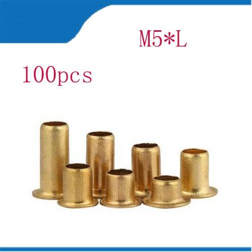 M2 M2.3 M2.5 M3 Brass Eyelet Rivets Hollow Rivet Tubular DIY
