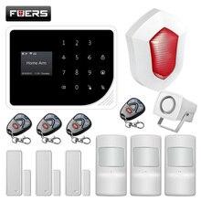 FUERS S5 2,4G wifi GSM wireless Sicherheit Home Alarm System APP Control Alarm Russisch Spanisch Englisch Dutch mit Ip kamera