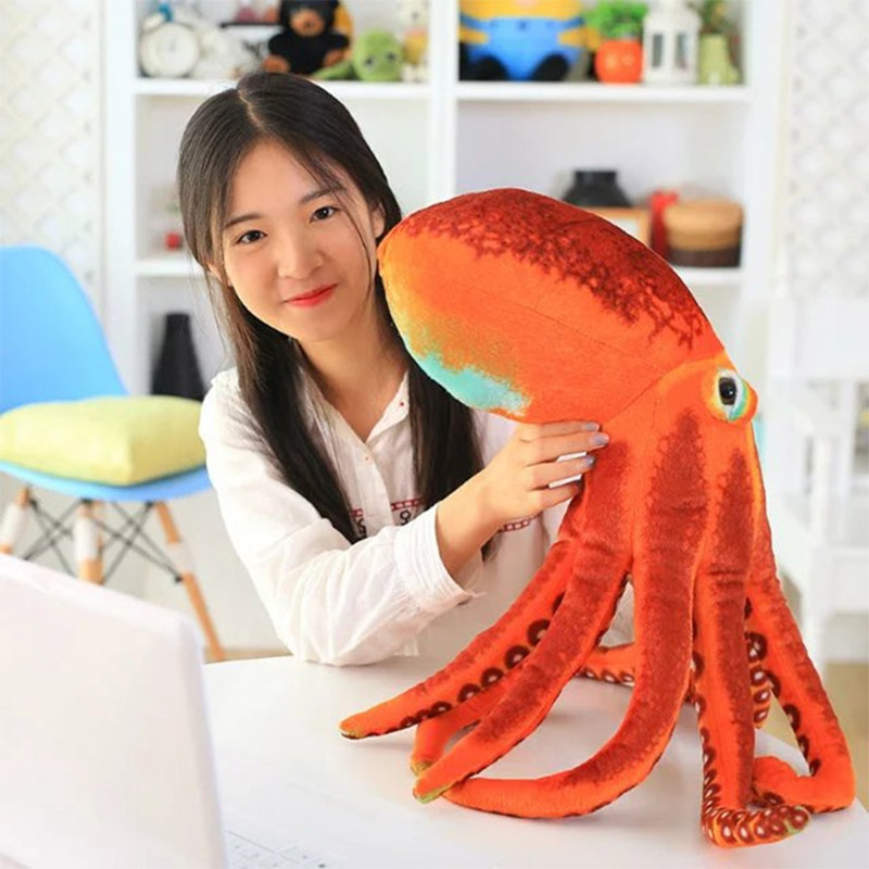 60CM Cute Octopus Plush Pillow Dolls The Stuffed Seat Cushion Backrest Toys For Children Birthday Gifts Friend Party Gift hot sale cute dolls 60cm oblong animals pillow panda stuffed nanoparticle elephant plush toys rabbit cushion birthday gift