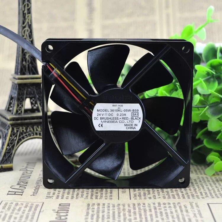 3610ML-05W-B59 3610ML-05W-B59 Three-wire 24V 0.20A Original NMB Fan