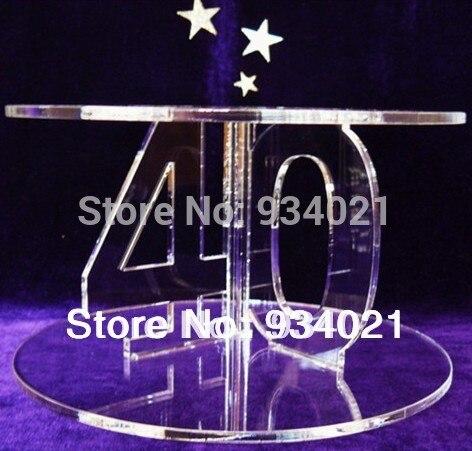 ᐅ2 tingkat akrilik kue pengantin berdiri   memperingati Display ... 5ebda285e1fd