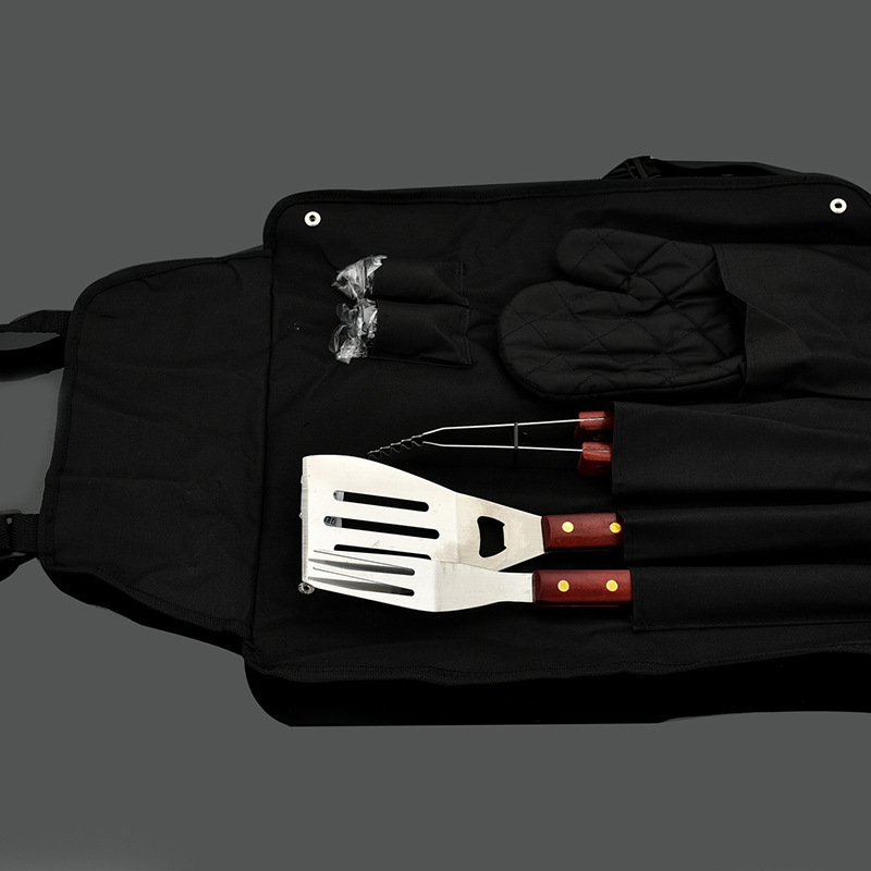 7Pcs/Set Bag Package BBQ Tool Utensil Camping Supper-quality Outdoor Accessorie Cooking Barbecue Norusty SUS 304 Stainless Steel
