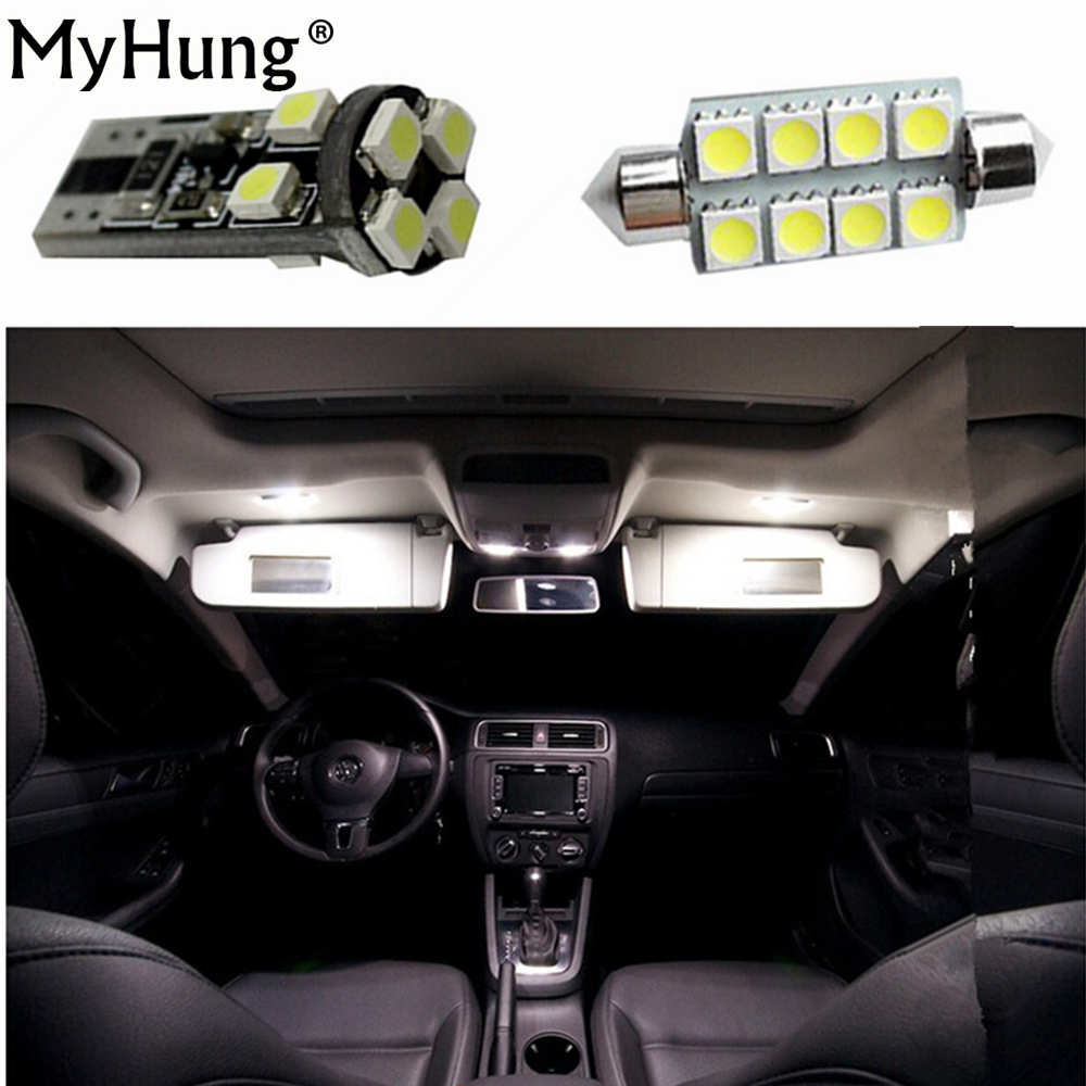 for volkswagen vw passat b6 led interior dome map light kit package 2006 to 2010 canbus footwell trunk light 11pcs per set [ 1000 x 1000 Pixel ]