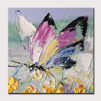 Mintura Oil Paintings Modern Animal Painting Different Kind of Butterflies Canvas Art Picture Room Wall Sticker Poster No Framed