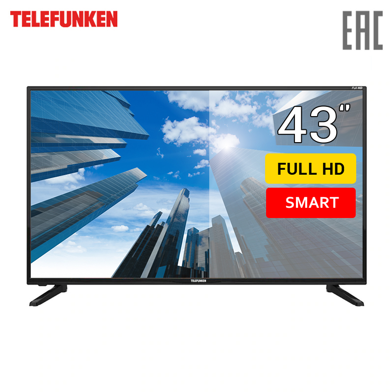 Фото - TV 43 Telefunken TF-LED43S43T2S FullHD SmartTV 4049inchTV dvb dvb-t dvb-t2 digital chunghop universal learning remote control controller l309 for tv sat dvd cbl dvb t aux big key large buttons copy