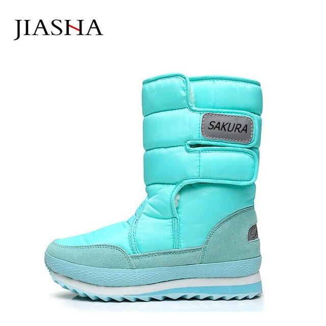 Women boots 2017 women snow boots winter non-slip   unisex winter boots leisure candy color