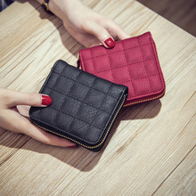 New 2019 Fashion Women's Purse Card Holder Women Small Wallet Zipper Clutch Coin Purse Female Bag Square lattice wallet  220 цена