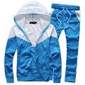 Nuevas llegadas hombres de moda traje de ropa deportiva chándal con capucha y pantalones 4 colores M-5XL JPYG69
