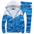 new arrivals fashion men  suit sportswear tracksuit hoodies and pants 4 colors M-5XL JPYG69