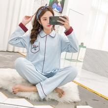 Breastfeeding pajamas breast feeding nightwear maternity nursing pajama sets sleepwear pregnancy pyjama Spring