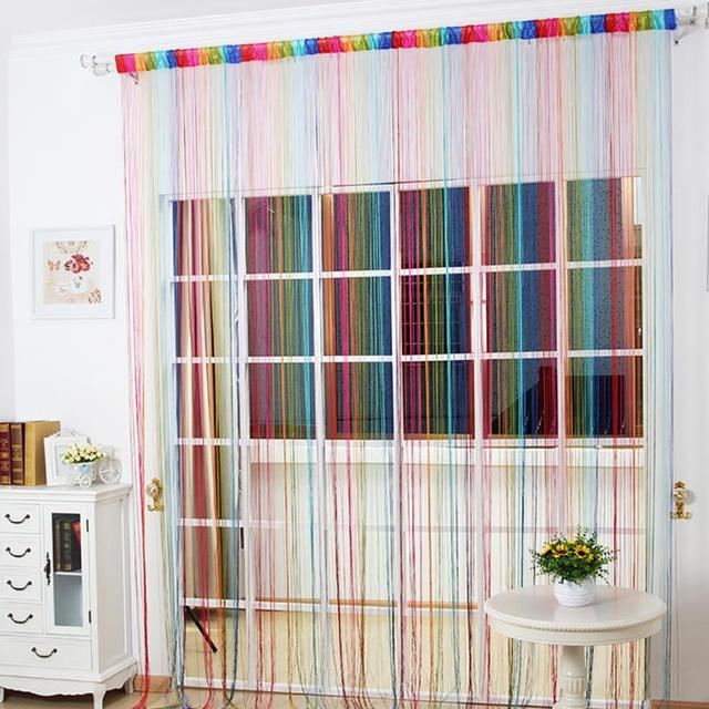 Aliexpresscom Buy Hot Hallway Colorful Line String Curtain For