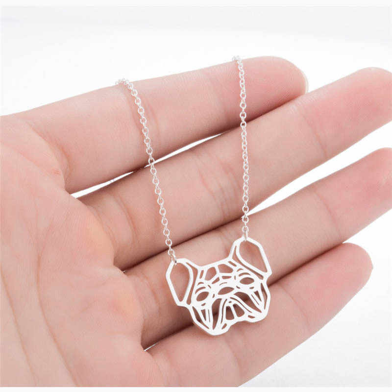 Fashion Cute Pendant Necklace Hollow Giraffe Fishtail Bulldog Animal Shaped For Women Girl Stainless steel Jewelry Gifts
