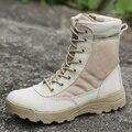 2017 Открытый Военный Тактические Ботинки Desert Combat натуральная Кожа летние Ботинки дышащие Sapatos Masculino черный