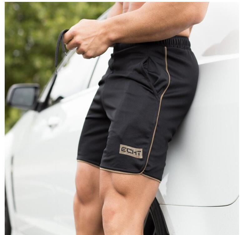 Calções de marca Homens Casual Academias de fitness Musculação Calças Curtas Dos Homens Profissional Jogger Sweatpants Aptidão Curto