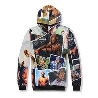 2017 New 3d hoodies hip hop tracksuit Men/Women Rap 2pac tupac printed casual hoodies