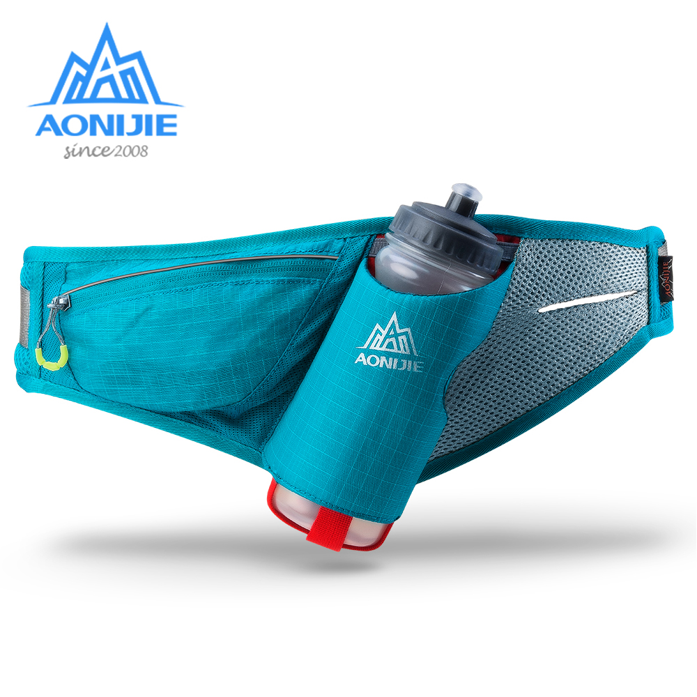 AONIJIE Running Hydration Belt Waist Bag For Marathon Jogging CyclingPouch Fanny Pack Phone Holder For 600ml Water Bottle E849