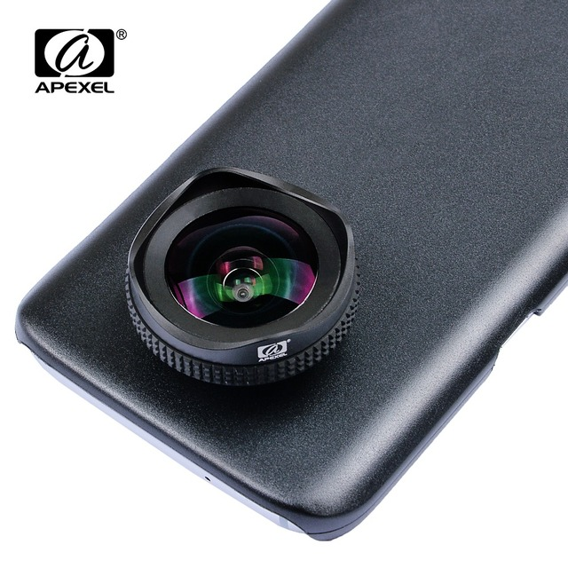 APEXEL 2 in 1 Phone Camera Lens Kit 16mm 4k Super Wide angle Mobile Lens With CPL Filter for iPhone X 7 8 samsung s8 plus