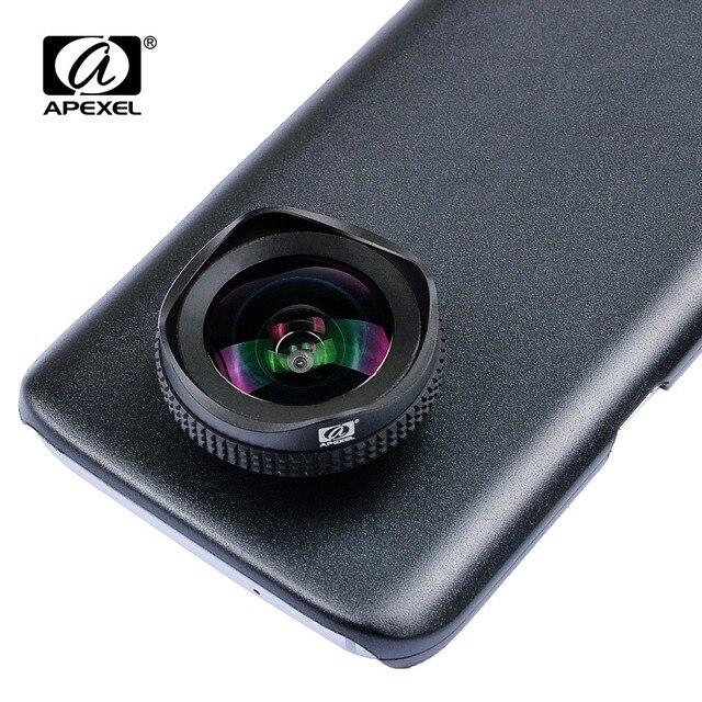 Apexel 2 em 1 kit de lente da câmera do telefone 16mm 4k super grande angular lente móvel com filtro cpl para iphone x 7 8 samsung s8 mais