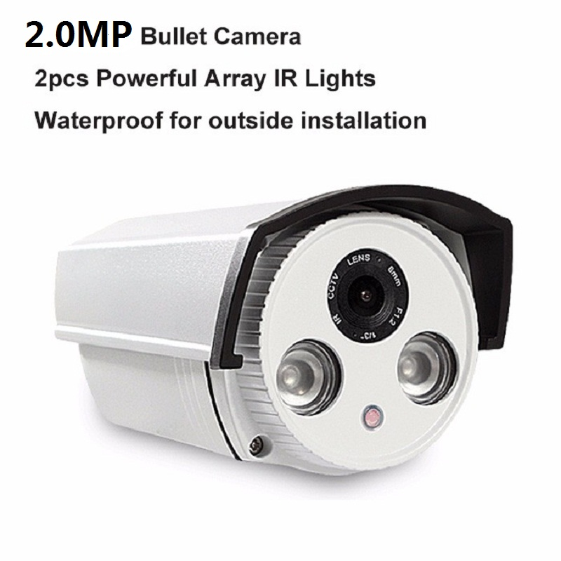 Aluminum Metal Waterproof Outdoor Bullet AHDCamera 720P 1080P 3MP Security Camera CCTV 2PCS ARRAY LED Board HD Camera cctv camera waterproof outdoor housing array led light cctv camera aluminium alloy metal case cover