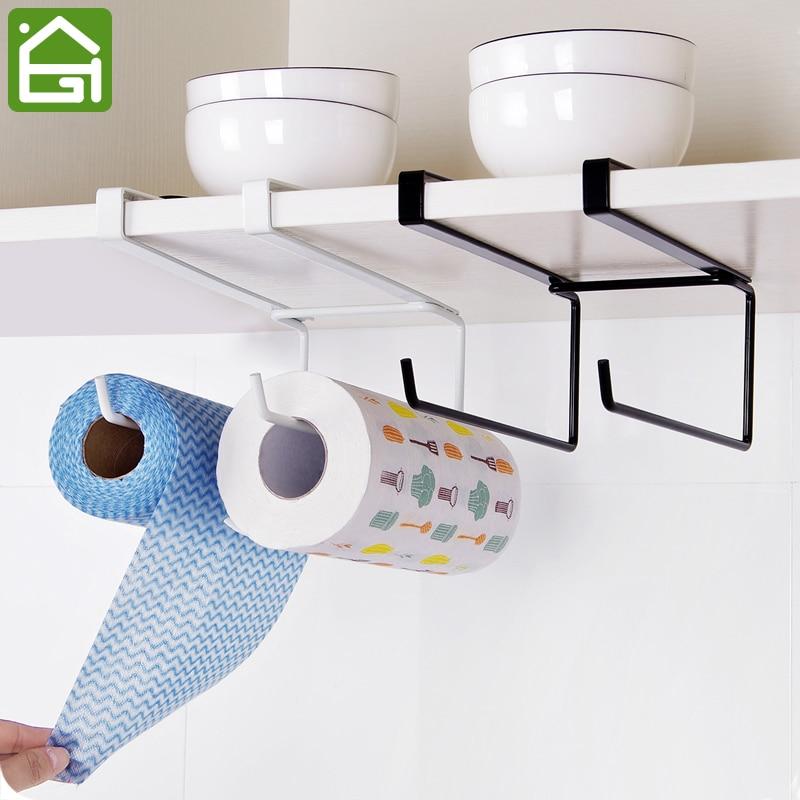 Under Shelf Kitchen Roll Holder: Kitchen Cupboard Disposable Wiping Cloth Hanging Organizer