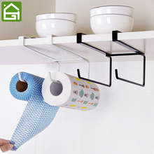 Kitchen Cupboard Disposable Wiping Cloth Hanging Organizer Rack Tie Hook Cabinet Roll Paper Dish Rag and Towel Hooks