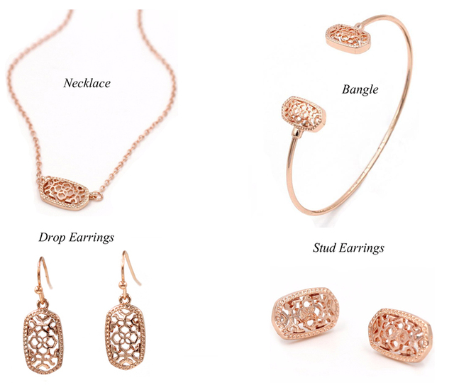 Geometric Oval Jewellery set 3