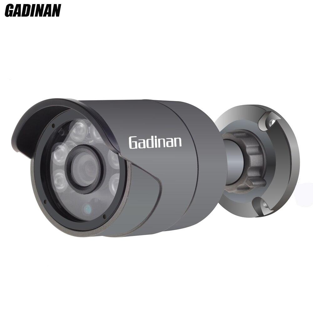 Gadinan AHDH Caméra En Métal Étanche 6 LED Array Nuit vison 1/2. 7 F02 CMOS 2MP 1080 p Extérieure 3.6mm Objectif de Sécurité