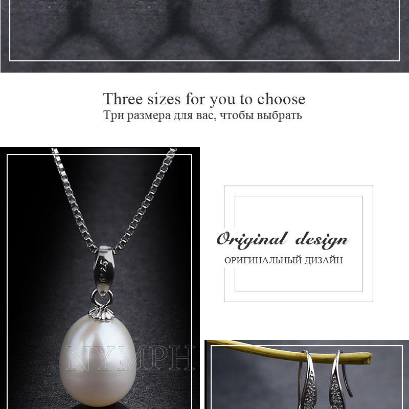 HTB13zLlp8cHL1JjSZJiq6AKcpXaa NYMPH Pearl Jewelry Set Natural Fresh Water Pearl Necklace Pendant Earrings For Wedding Party Gift Women[tz1032]