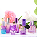 7PCS/Set Purple Unique Glass Women Refillable Perfume Bottle Atomizer Bulb Empty Atomizer Aftershave Makeup Cosmetic Containers