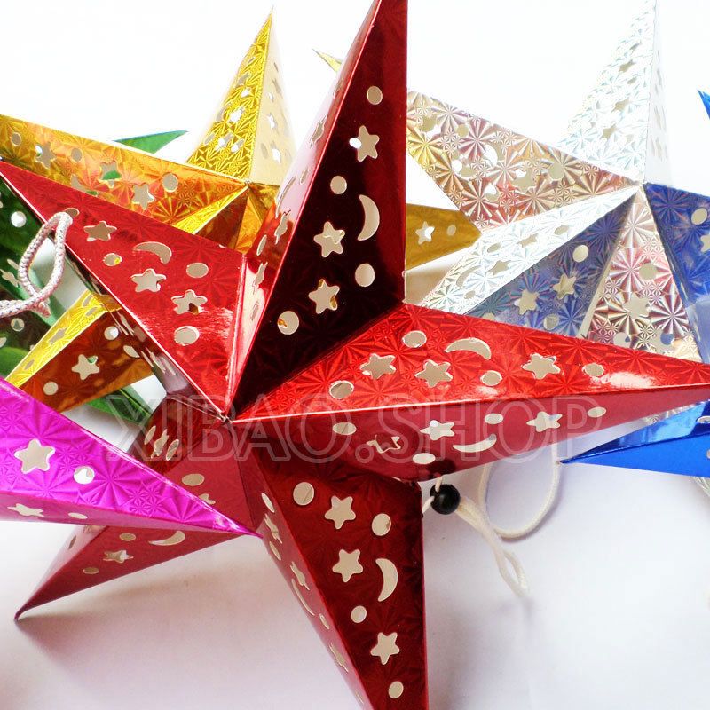 Estrellas navidad papel gallery of cmo hacer estrellas de - Cortinas de papel para navidad ...