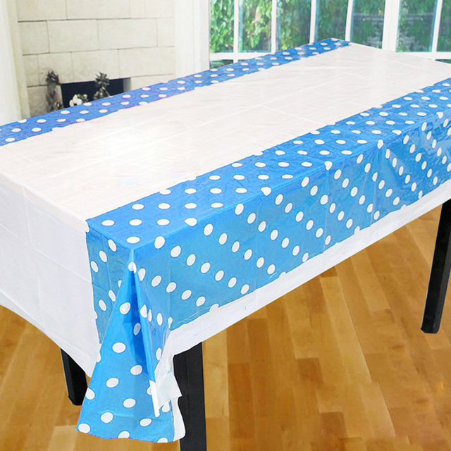 Colorful Polka Dot Plastic Table Cloth Baby Shower Decoration Supplies Kids Birthday Party Disposable Tablecloth