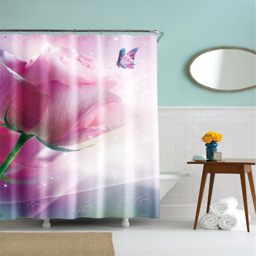 2019 Latest Design 3d Christmas Deer 79 Shower Curtain Waterproof Fiber Bathroom Windows Toilet Home & Garden