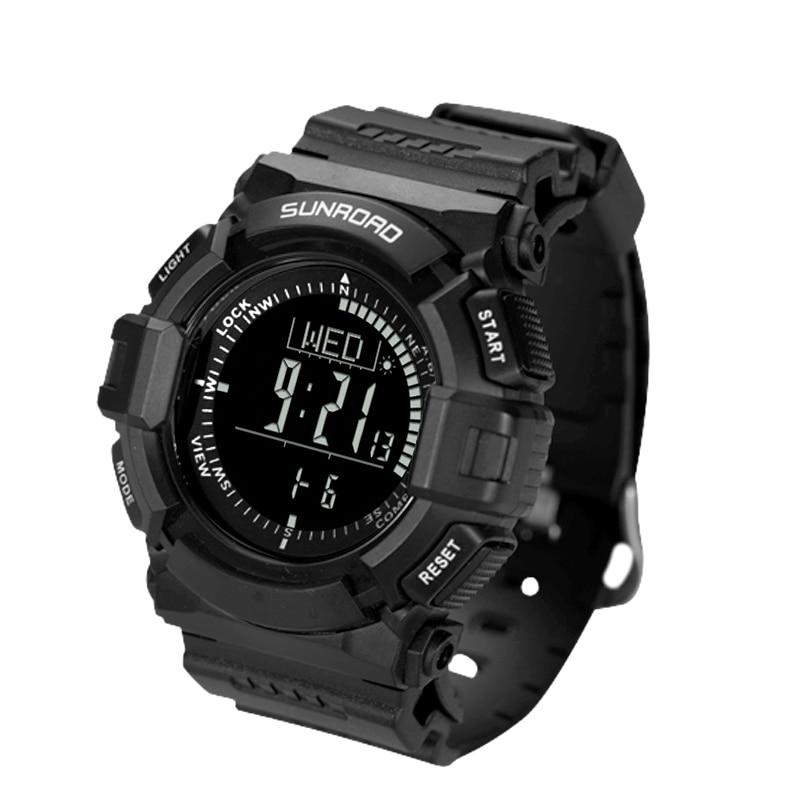 SUNROAD 2017 New Arrival  Sports Smart Watch Altimeter Barometer Compass Watch Stopwatch Men Wristwatch Clock  FR823B Watches