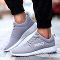 Мужская Обувь Дышащая Сетка Летние Ботинки 2016 Мода Открытый Спорт Зашнуровать Удобные Мужская Обувь Большой Размер 34-47