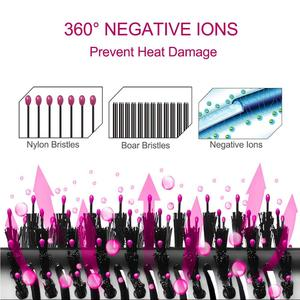 Image 3 - Профессиональный одношаговый фен для волос с горячим воздухом, 2 в 1 выпрямитель и бигуди, электрическая плойка, гребень