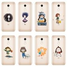 Girl Cat Phone Case For Xiaomi Redmi S2 4 4A 4X 5A 6 6A 5 Pl