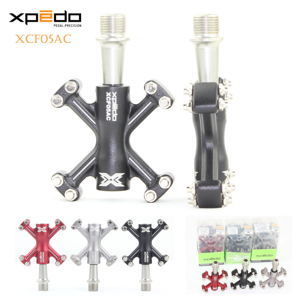 Wellgo Xpedo XCF05AC Ultralight Bicycle Pedals 6061 Aluminum Forged Road Bike Pedals Mountain Bike 3 Bearings