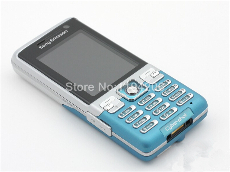 Refurbished phone SONY Ericsson C702 unlocked Smartphone GPS 3G 3.15MP bluetooth mp3 player blue 2