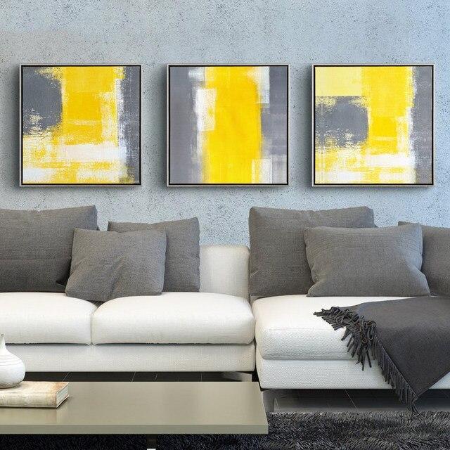 Online Shop Geel En Grijs Moderne Minimalistische Abstracte ...