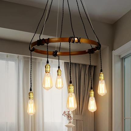 Loft Style Iron Vintage Pendant Light Fixtures Edison Industrial Lamp Dining Room Bar DIY Hanging Droplight Indoor Lighting loft style iron glass vintage pendant light fixtures edison industrial lamp dining room bar hanging droplight indoor lighting