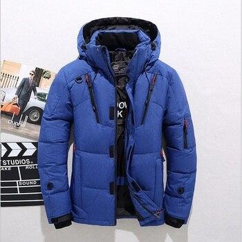 New arrival Tace & Shark brand men's down jacket casual fashion winter jacket for men hat wind breaker white duck coat male