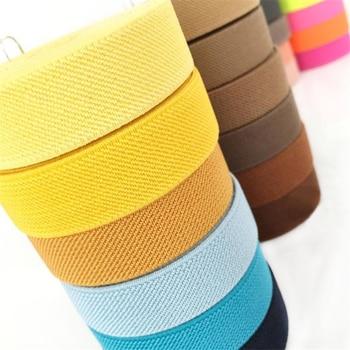 Cinturón elástico de sarga gruesa de doble cara, 5 metros, para pantalones, falda, accesorios de ropa, banda de goma, 20mm Bandas elásticas    -