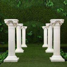 Белые пластиковые римские колонны дорога цитируется для свадебных сувениров вечерние украшения гостиницы торговые центры открываются приветственный дорожный поводок