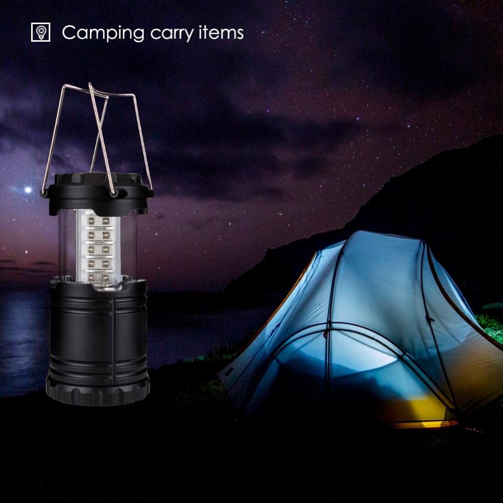 Taşınabilir Kamp Için Açık Havada Fener 30 LED Kamp Işık Balıkçılık Katlanabilir Turist Çadır Lambası Balıkçılık Için YENI